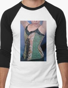 Corset Girl 2 Men's Baseball ¾ T-Shirt