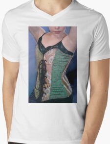 Corset Girl 2 Mens V-Neck T-Shirt