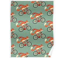 fox pattern Poster