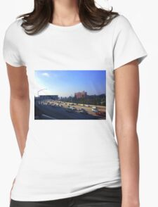 Rush Hour in Los Angeles Womens Fitted T-Shirt