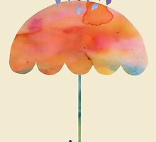 Rainbow Umbrella by SuburbanBirdDesigns By Kanika Mathur