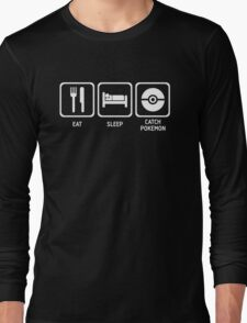 Eat Sleep Catch Long Sleeve T-Shirt