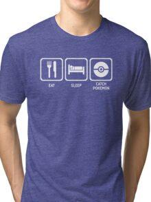 Eat Sleep Catch Tri-blend T-Shirt
