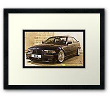 BMW 323 E36 Framed Print