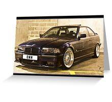 BMW 323 E36 Greeting Card