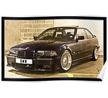 BMW 323 E36 Poster