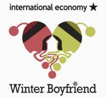 Winter Boyfriend artwork (words) One Piece - Short Sleeve