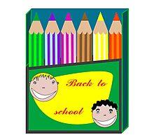 Back to school pencils Photographic Print