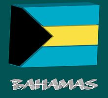 Bahamas 3d flag by Laschon Robert Paul