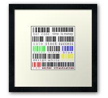 Bar codes Framed Print