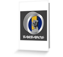 Barbados 3d flag Greeting Card