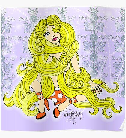 Rapunzel Let Down your Golden Hair Poster