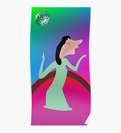 Beautiful girl dancing Poster