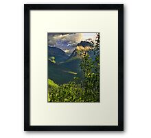 High Country - Glacier National Park Framed Print