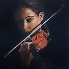 """Violin"" Oil on Canvas by John D Moulton"