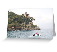Portofino:  House on the Hill Greeting Card