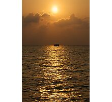 Sunset on the Indian Ocean, Maldives Photographic Print