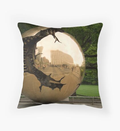 United Nations Golden Globe Throw Pillow