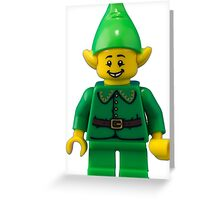 Little Green Elf Greeting Card