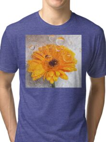 yellow flora  Tri-blend T-Shirt