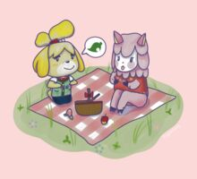 Animal Crossing Isabelle Picnic One Piece - Long Sleeve