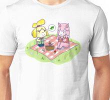 Animal Crossing Isabelle Picnic Unisex T-Shirt