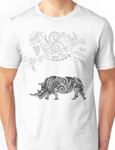 Ornate Indian Rhino Unisex T-Shirt