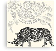 Ornate Indian Rhino Canvas Print