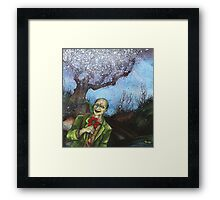 """Zombies Have Happy Places Too"" Framed Print"