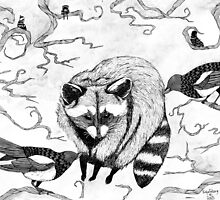 Magpie and Raccoon by Freja Friborg