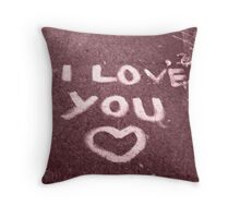 Sidewalk Confession  Throw Pillow