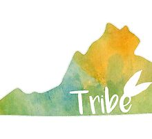 William & Mary Tribe Watercolor State by lettersBheather