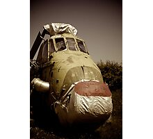 Abandoned Helicopter Photographic Print