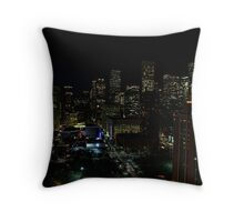 Downtown Houston at Night Throw Pillow