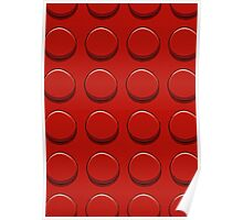 Red Lego Poster