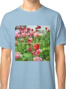 Pink And Red Tulips Classic T-Shirt