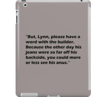 Partridge Builder iPad Case/Skin