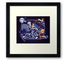 Super Kart Wars Framed Print