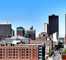 Skyline, Des Moines Iowa by wileyphotoart