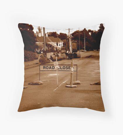 ←detour | road closed | detour→. Throw Pillow