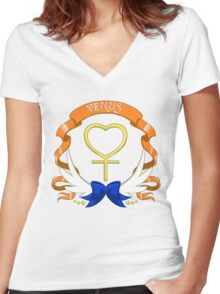 Sailor Signs - Venus Women's Fitted V-Neck T-Shirt