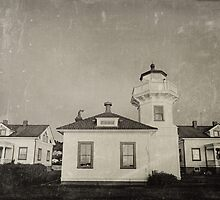 Vintage Mulkiteo Lighthouse Station by CPAULFELL