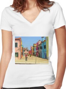 Vacation Photographer Women's Fitted V-Neck T-Shirt