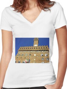 Florence Castle Women's Fitted V-Neck T-Shirt