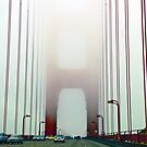 Golden Gate Bridge Enshrouded by Fog by Julie Wall