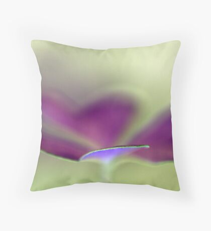 celebration in purple and green Throw Pillow