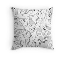 Leather & Laces Throw Pillow