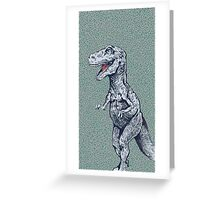hungry rex Greeting Card