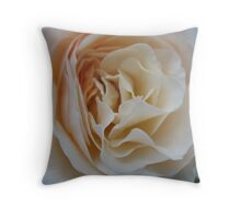 Apricot Souffle Rose Throw Pillow