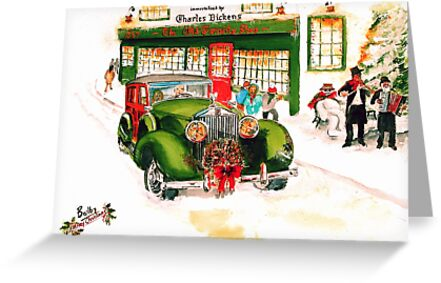 1932 Rolls Royce Woody - Christmas in London by Rob Beilby